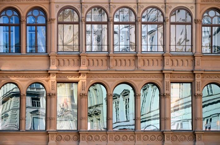 Wien, Architektur-Spiegelung