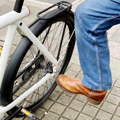 digital Radfahren: Smartbike abschliessen per Fusskick