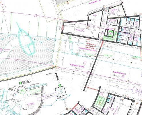 CAD-Plan: Hochbau