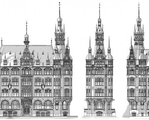 CAD-Zeichnung: Historische Gebäude