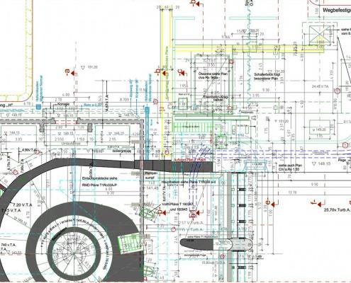 CAD-Plan: Ingenieurbau