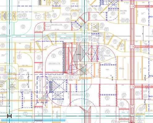 CAD-Plan: TGA Lüftung Gebäudetechnik