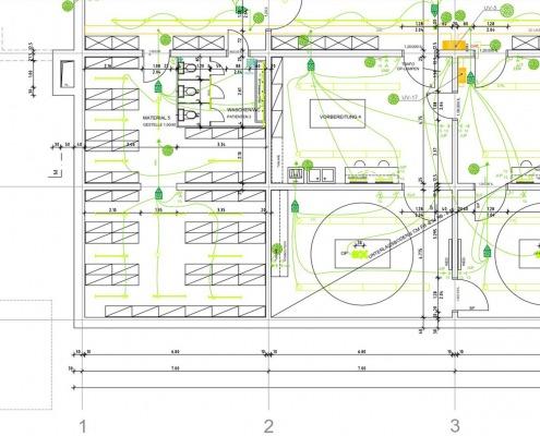 CAD-Plan: Gebäudetechnik TGA Elektro