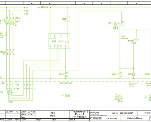 CAD-Plan: Technische Betriebe Stromlaufplan